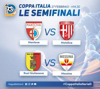 Serie D Coppa Italia il sorteggiato delle due semifinali