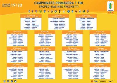 Calendario Promozione Campania.Calendario Campionato Primavera 1 Tim 2019 2020