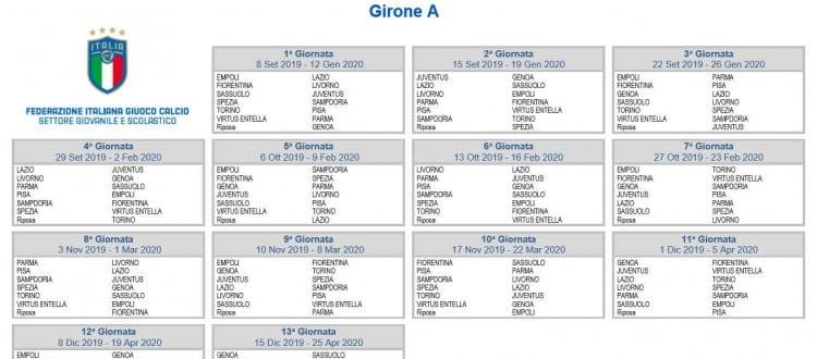 Calendario Nazionali.Under 17 Il Calendario Del Girone A Del Campionato
