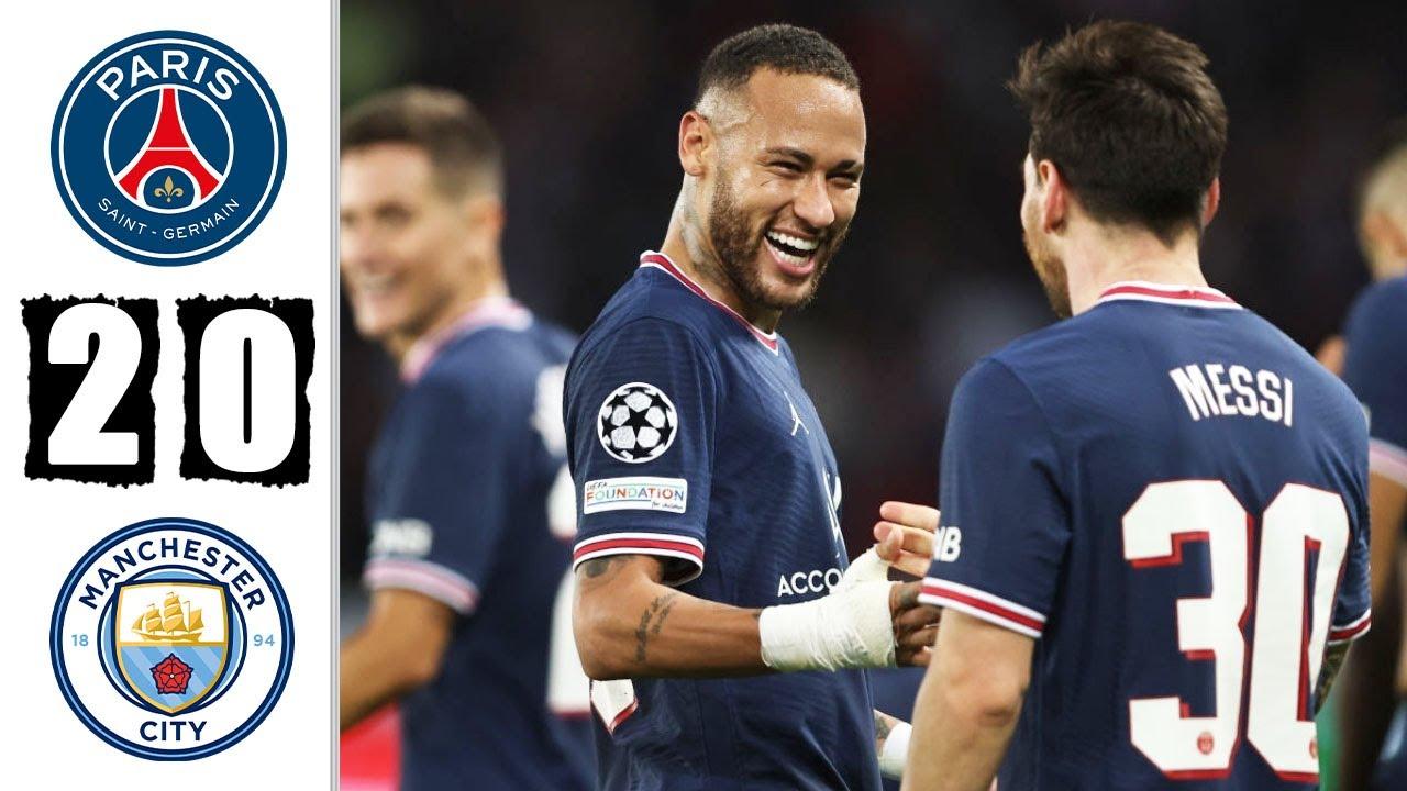 PSG - Manchester City 2-0 UEFA Champions League 2021 - ZonaCalcioFaidate
